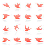 Birds. Vector logo template set. Stock Photos