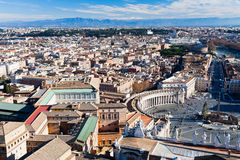 Birds view on center of Rome city Royalty Free Stock Photos