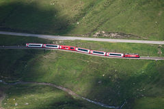 Birds View Of Glacier Express Stock Photo