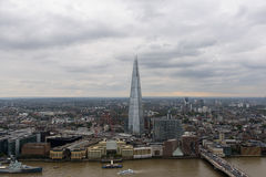 Birds view of London with Shard in the centre Stock Images