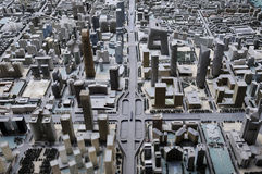 Birds' view of model of beijing city Stock Images