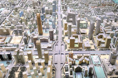 Birds' view of model of beijing city Stock Photo