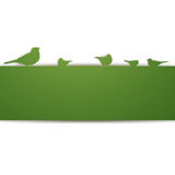 Birds on a wall. Illustration of an Abstract Background with Birds Royalty Free Stock Photo
