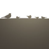 Birds on a wall Royalty Free Stock Image