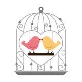 Birds wedding card celebration Stock Photo