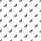 Birds wing with feathers pattern, simple style Royalty Free Stock Images