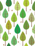 Birds in the woods. Birds in the green woods seamless pattern for kids vector illustration