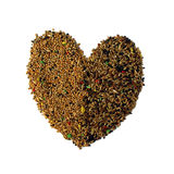 Birdseed heart Stock Photography
