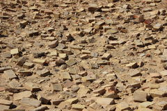 Birdseye on Clay Building Brick Tiles in Sand Royalty Free Stock Images