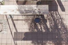 Birdseye de uma barra da rua Fotografia de Stock