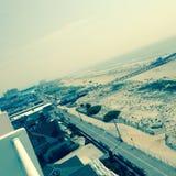 Birdseye strandpromenad Royaltyfria Bilder