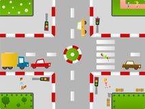 Birdseye town vector illustration
