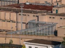 Birdseye view of a Detail of a Prison in Italy Stock Image