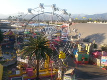 Birdseye view of fair festivities at the Los Angel Royalty Free Stock Photography