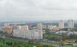 Birdseye view of Minsk Stock Images