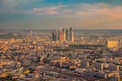 Birdseye view of Moscow Stock Photos
