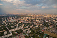 Birdseye view of Moscow Stock Photo