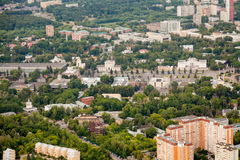 Birdseye view of Moscow Royalty Free Stock Photography