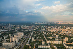 Birdseye view of Moscow Stock Photography