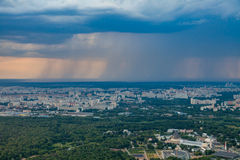 Birdseye view of Moscow Royalty Free Stock Photo