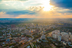 Birdseye view of Moscow Royalty Free Stock Photos
