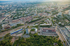 Birdseye view of Moscow Royalty Free Stock Images