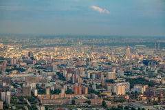 Birdseye view of Moscow Royalty Free Stock Image