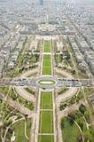 Birdseye view of Paris from Eiffel Tower Royalty Free Stock Photos