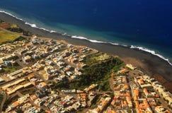 Birdseye view of Sao Filipe Stock Image