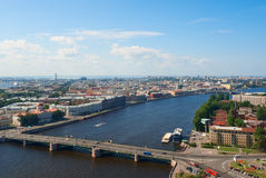 Birdseye view of St. Petersburg Royalty Free Stock Photography