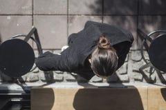 Birdseye of a women Stock Photography