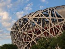 Birdsnest no Pequim, China Imagem de Stock