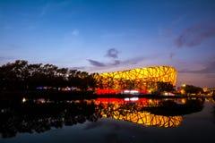 Birdsnest no Pequim, o Estádio Olímpico Fotos de Stock Royalty Free