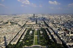 birdview全景巴黎 免版税库存照片