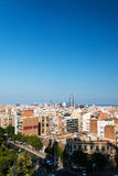 Birdview on Barcelona cityscape Stock Image