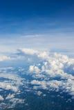 Birdview of blue sky.  Stock Image