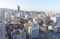 Birdview China Zhuhai Gongbei Stock Photos