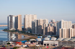 Birdview China Zhuhai and Macao Stock Photo