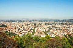 Birdview city center of Nice, France Royalty Free Stock Photos