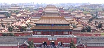 Birdview de la ciudad Prohibida en Pekín Imagenes de archivo