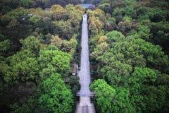 Birdview de la pagoda de Linggu en Nanking imagen de archivo
