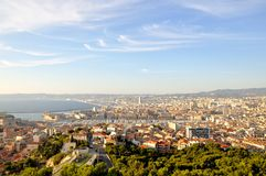 Birdview de Marselha, França Imagens de Stock
