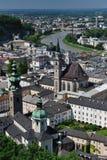 Birdview de Salzburg, Áustria Imagens de Stock