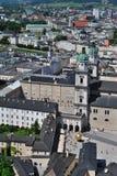 Birdview de Salzburg, Austria Imágenes de archivo libres de regalías