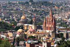 Birdview de San Miguel de Allende, Guanajuato, Mexique Photos stock