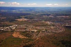 Birdview della città di Canberra Fotografie Stock