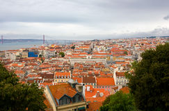 Birdview of Lisbon, Portugal Royalty Free Stock Image