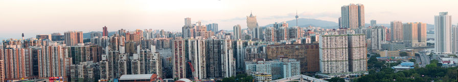 Birdview Macao van Zhuhai, China stock foto
