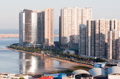 Birdview macao from Zhuhai, China Stock Photography