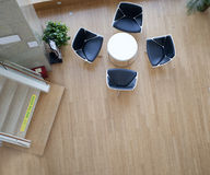 Birdview of meeting place. Without person Royalty Free Stock Photography